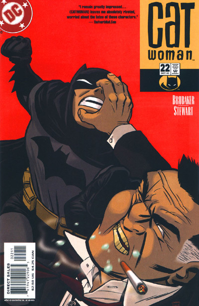 Catwoman v3 #22, October 2003, written by Ed Brubaker, penciled by Cameron Stewart and Nick Derrington