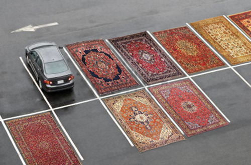 thejogging:  Occupy Parking Lots (with Persian Rugs), 2012 Installation View, Dimensions Variable ⧗  Joshua Citarella might be my favourite Jogger.