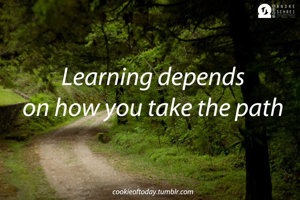 Learning depends on how you take the path
