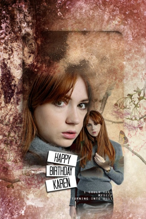 Happy 25th Birthday Karen Sheila Gillan!