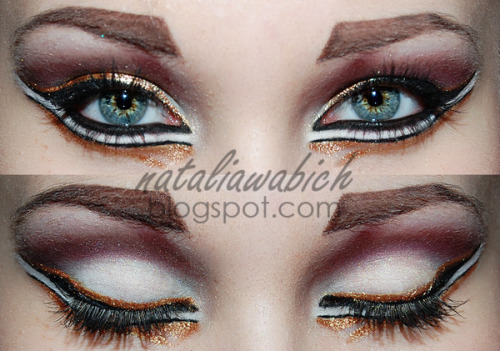 Dramatically lined eyes from Natalia W.!