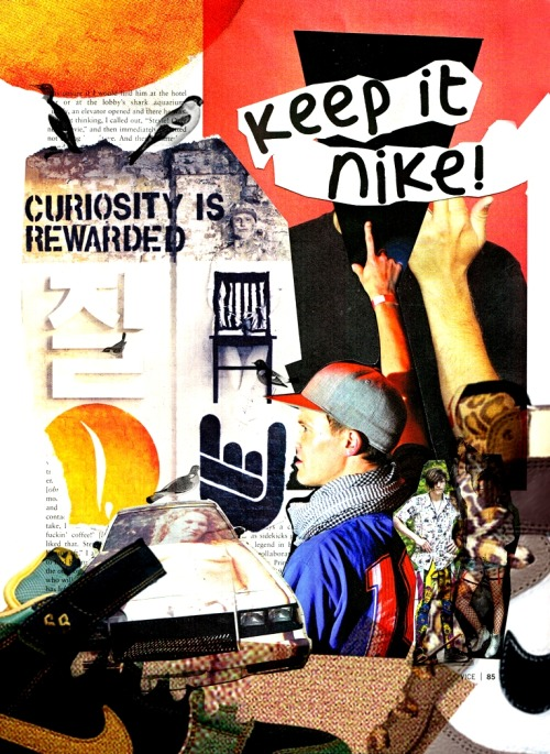 artsatow:  Keep It Nike // A3 // Collage for Nike SB Collages, i need to start doing them again. You can make some pretty random shit.