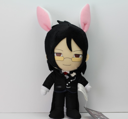 LOOK WHAT JUST SHOWED UP IN OUR OFFICES!Black Butler's Sebastian appears in his Ciel in Wonderland attire in this most adorable plushie. Keep your eyes peeled, now that we have final product, that means that retailers will start to receive their shipments of our favorite hellishly cute butler really soon!