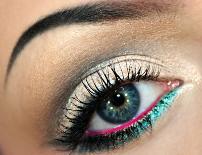 beautylish:  Brittany C. creates a neutral eye with a pop of color!