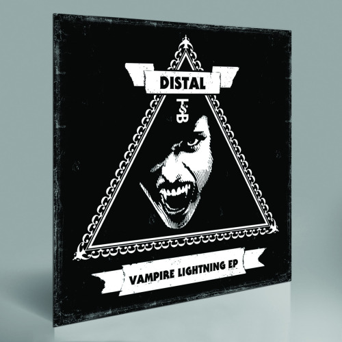 "DISTAL — VAMPIRE LIGHTNING EP   At long last, Trouble & Bass is thrilled to release this four-track salvo from Distal, the Boss of the South. Atlanta-based Distal is one of America's most talented and diverse producers, effortlessly traversing the worlds of juke, dubstep, Southern hip-hop, house and techno. He is both reverent of these genres and relentlessly new, as he's proved on best-selling releases for Tectonic, Grizzly, Seclusiasis and his own label, Embassy Recordings.This set has a deep purple palette: roughneck, sometimes melancholy, but with a cheeky sense of humor that's pure Distal. The title track ""Vampire Lightning"" is gully peak-time juke. Our little buddy goes late night in the lab, beakers bubbling over with corrosive acid sounds spilling onto the shakers and snares skittering around the floor. This gets backed up by ""Cherry Red,"" a track as cool as the paint on your tricked-out Cadillac. Miss Cherry is a stripped-down gangster boogie that sounds like 10 zombies in a synchronized Crank Dat Superman.Following on, a number that perfectly shows Distal's allegiance to the dirty, dirty. Get your daiquiri ready and roll out to the heroic ""Green Lantern,"" a dramatic and soaring slice of thug romance with beautiful synths, snare rolls for days and bass for your trunk. NYC ballroom heavyweight MikeQ (Qween Beat) steps in with a remix for all the banjee boys, walking the runway with heavy stabs and driving house beats designed to make you strike a pose or 50."
