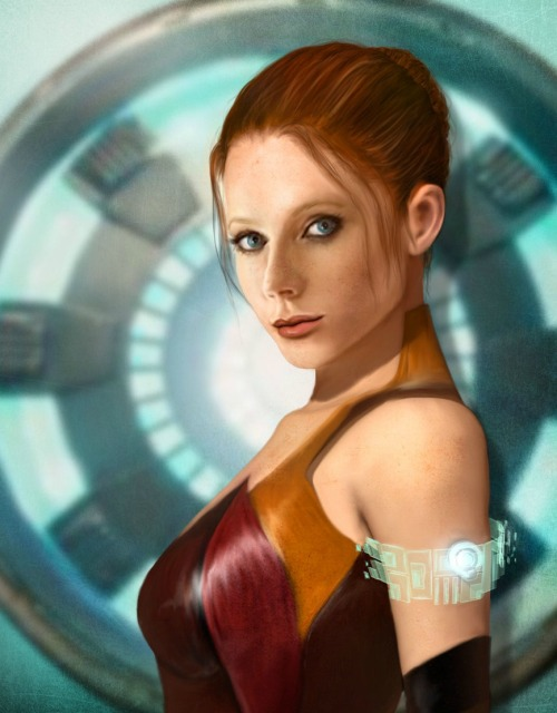 youngjusticer:  Gwyneth Paltrow as Pepper Potts. Virginia Stark, by cylonka.