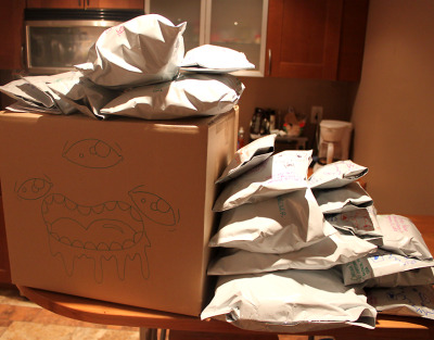 The people at the post office are going to love (hate) me tomorrow.