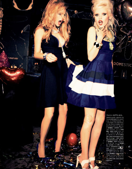 "d-elicatebeauty:  ""Party Dolls"" Vogue Japan January 2013"