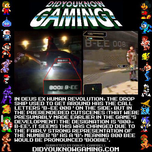 didyouknowgaming:  Deus Ex: Human Revolution. Drop ship footage: http://www.youtube.com/watch?v=5pJo426_Xx8