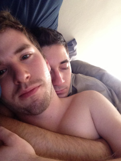 Woke up to the bf cuddling with me and couldn't resist taking a pic to see what we looked like