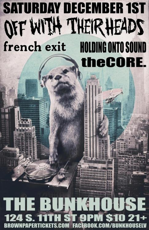 Off With Their Heads + The French Exit + HOTS + TheCore. :: December 1st :: Las Vegas, NV @ The Bunkhouse