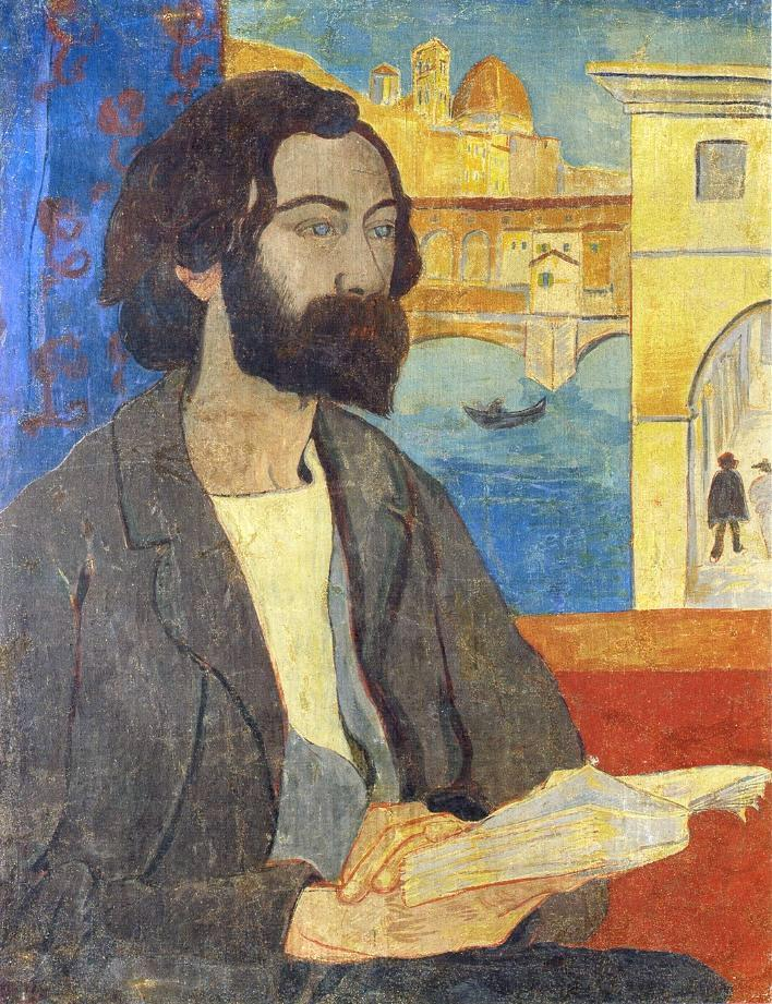fleurdulys:   Portrait of Émile Bernard at Florence - Paul Serusier  1893