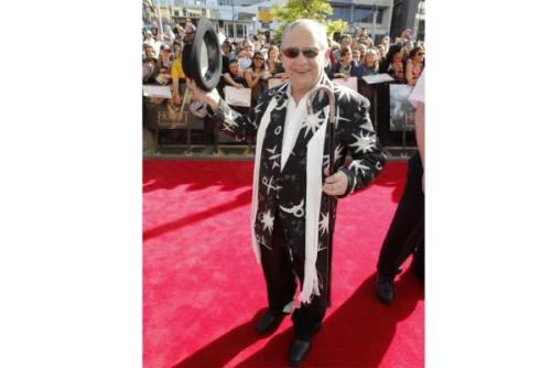 Sylvester McCoy, who plays wizard Radagast the Brown, at the premiere of The Hobbit: An Unexpected Journey in Wellington