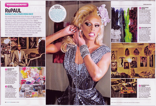 Entertainment Weekly goes inside RuPaul's dressing room!
