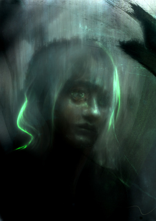 sketch dark.melancholy green by ~smokepaint