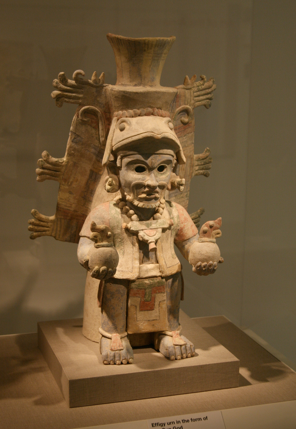 Ancient Mayan Effigy urn in the form of Chac, the Rain God. Courtesy & currently located at the San Francisco deYoung museum. Photo taken by Leonard G.