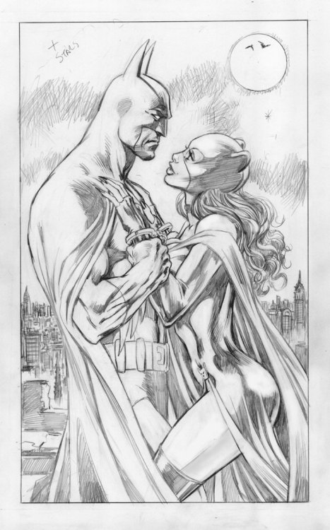 Batman and Catwoman by Alan Davis.