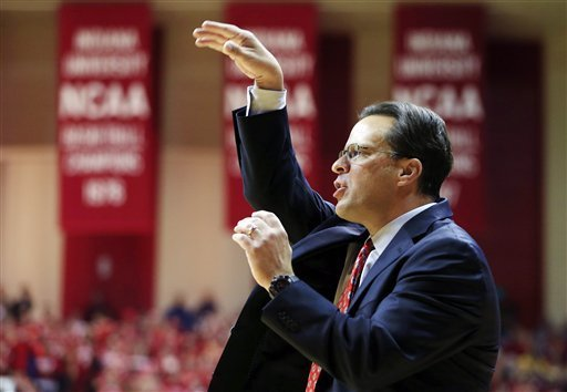 rknone:  Indiana head coach Tom Crean encourages his team during the first half of an NCAA college basketball game against North Carolina, Tuesday, Nov. 27, 2012, in Bloomington, Ind. (AP Photo/Darron Cummings) (via NCAAB - Photo Gallery - Yahoo! Sports)