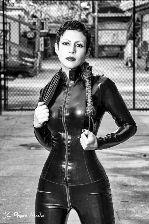 The striking Mal Martine, NYC Dominatrix.   Photographed by Stark Arts.
