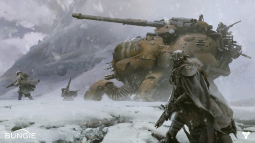 Leaked 'Destiny' concept art shows what Bungie has in store after 'Halo' So psyched for this. Getting a real Killzone vibe from that snow scene shot, too. The other shot above earth (found at the link) uses a real image taken from the International Space Station, I believe.  EDIT: Yeah, here's the real shot.   Taken from here.