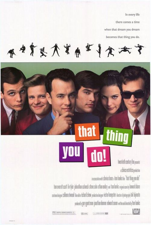 That Thing You Do (1996) Pros: Tom Hanks' first writing and directing credit on a feature film is a very enjoyable pastiche of some traditional genres, in that it's got a solid romance story, some very good songs to create it's musical credibility, a believable look back into pop culture (mirroring a similarly set movie of the same year, 'Grace of My Heart') and finally a semi-serious 'biography' structure that is on the same plane (if not the same standard or surrealism) as 'This Is Spinal Tap'. The cast of mostly young and relatively unknown actors at the time is more than adequate, with Tom Everett Scott bringing just the right amount of levity and seriousness to his role as Guy (no doubt channeling the style of Hanks himself from his better films of the 1980s). Liv Tyler is suitably beautiful and charming as Faye, and Jonathan Schaech as James has enough of the Brian Wilson/John Lennon persona to keep his character interesting. Hanks himself is good (and actually surprisingly cynical at times in the movie) but for me the stand out performance is Steve Zahn as Lenny. He rips into his role with gusto and a comedic energy that steals many a scene. Zahn is one of those actors who never gets enough credit for his performances and in 'That Thing You Do' he shines. For a musical comedy it is imperative that the music is good, and there are no complaints on this aspect of the movie. From Beatle-ish pop songs (as embodied in the title track), through surf songs, Phil Spector-like torch ballads and even upbeat jazz 'That Thing You Do' doesn't put a foot wrong. The look of this movie is also a positive; for a film set in 1964 it looks historically appropriate but also fresh and vibrant. Cons: This isn't a deep or meaningful film, and it offers none of the bizarre insight into or outrageous laughs from the rock/pop industry offered by 'This Is Spinal Tap' or 'All You Need Is Cash' (featuring the Pythonesque Rutles). A lightweight movie, 'That Thing You Do' won't last too long in the mind of most movie goers. The theatrical release had problems with the way it depicted Charlize Theron as Tom Everett Scott's girlfriend, in that one minute she was with Guy, the next gone. The editing of her role left much to be desired and this supposedly has been improved by the extended DVD. Considering Theron's career since 1996 it seems that she was wasted in this movie. Final Rating:  3 out of 5 Bill Collins