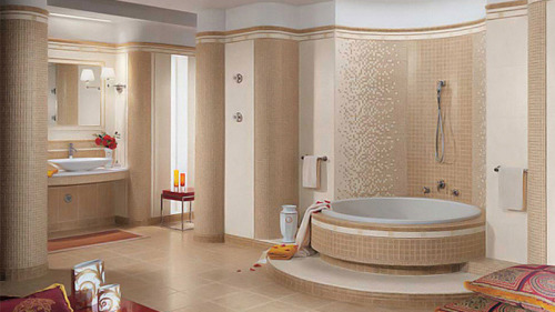 homedesignlover:  Beige and Cream Bathroom Design