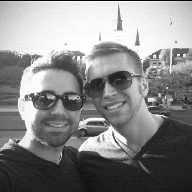 Jackson Square with @aaronjcoriell #photos #me #boyfriend #guy #boy #gayboy #la #nola #neworleans #jackson #square #vacation #thanksgiving