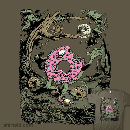 shirtoid:  Dawn of the Doughnuts by John Sumrow is $10 today only (11/28) at TeeFury