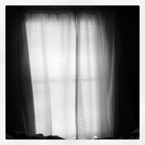 Even with the drapes shut, it's too bright to fall back asleep #sleep #sun #zzzzzz