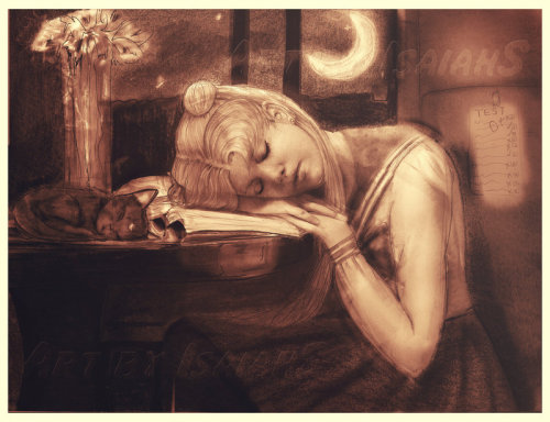 Dreaming after reading / Soñando después de leer (ilustración de Isaiah Stephens)