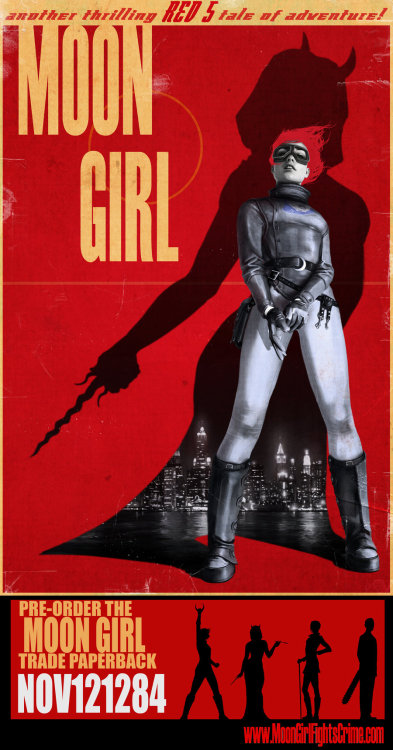 southfellini:  rahzzah:  Moon Girl TPB by ~Rahzzah When you visit your comic shop today, pre-order the extras-packed Moon Girl trade paperback. (code: NOV121284) Collects issues 1-thru-5, plus a bunch of extra stuff just cause we love you.  If you need a lil convincing check out the Moon Girl on Comixology for a taste!  A lil break from the Alpha Girls to talk about the Moon Girl.