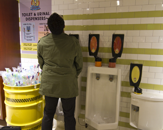 vicemag:  Pissing in a Candy Urinal at Willy Wonka's Latest Store