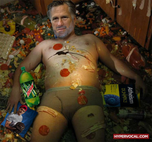 "Time to get cleaned up, Mitt. Mitt Romney will get to have a White House lunch after all. But just one. Obama & Romney to do lunch in the residence tomorrow! Details here.The easy joke: Crow will be served.The medium joke: What ""gifts"" will Obama be stow on Romney?The hard joke: _____________________.Weigh in with your best joke."