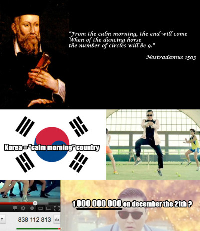 Nostradamus nails it again!  Follow this blog for endless hours of laughter