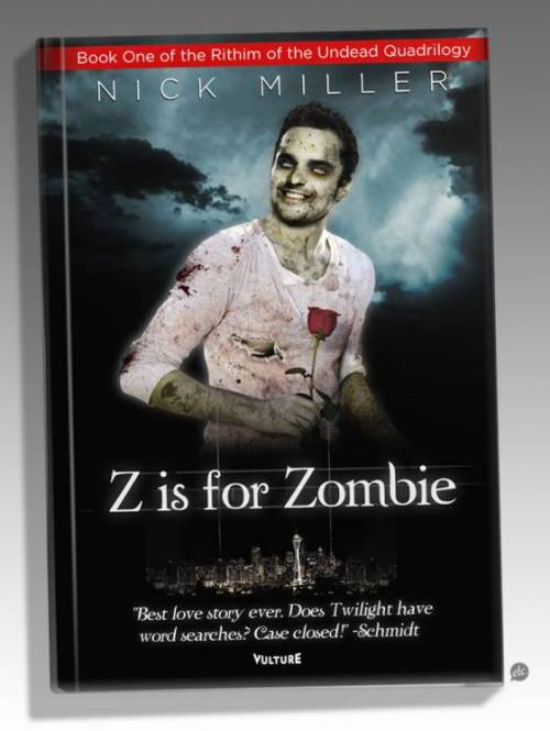 pinstripesandflannel:  the cover of nick from new girl's zombie novel.