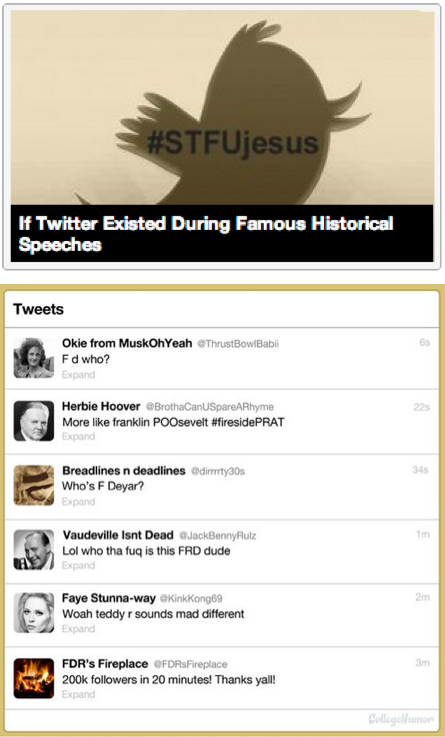 If Twitter Existed During Famous Historical Speeches [Click to continue reading]