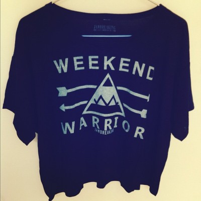 Weekend Warrior crop tees only $25 at www.shopjawbreaking.com