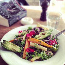 veganfeast:  Raw kale lunch salad poised to be awesome! by monica.shaw on Flickr. Delish!