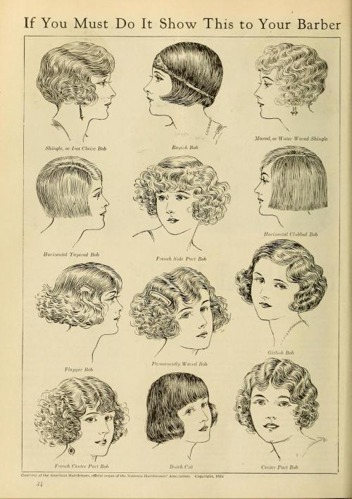 "haluca:  sydneyflapper:  whataboutbobbed:   From ""The Battle for Bobbed Hair"" 