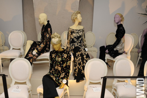 womensweardaily:  A view of the Valentino exhibit.