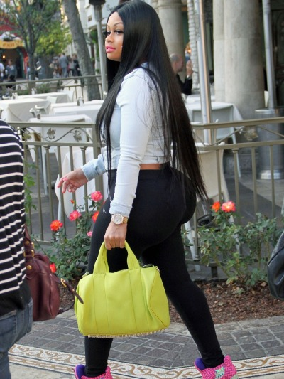 #pauseBlac Chyna at 'The Grove' in L.A. yesterday….