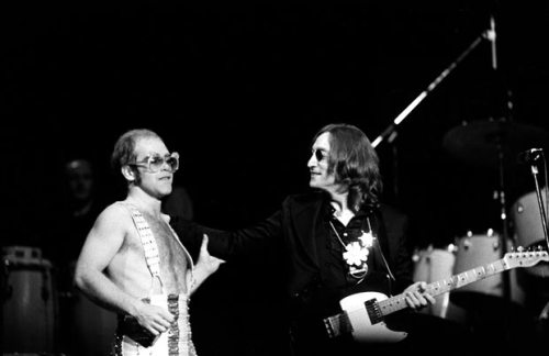 (via Video: John Lennon's last concert performance) 38 years ago today John Lennon made a surprise appearance Madison Square Garden during Elton John's show. Watch them perform Lennon's Whatever Gets You Through The Night  HERE