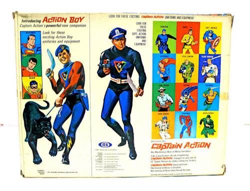 Action Boy Superboy outfit- box back(1966)