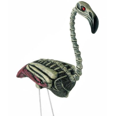 laughingsquid:  Zombie Flamingo Lawn Ornament