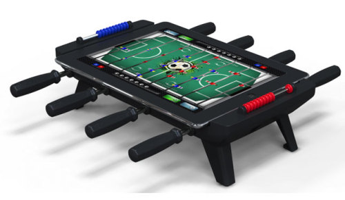 brit:  This just in: You can now turn your iPad into an actual foosball table for up to 4 players. Thank you New Potato, thank you.