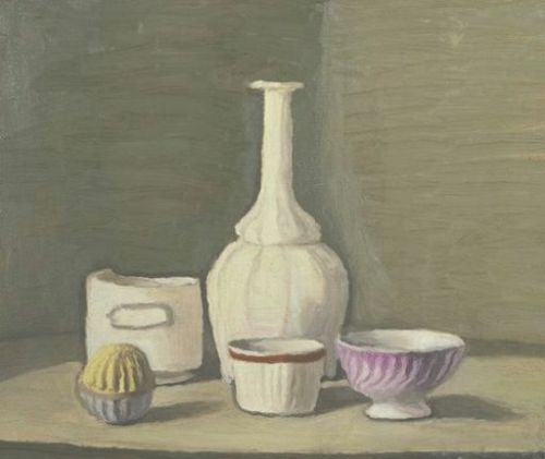 Does anyone remember what's so great about Morandi? It's not obvious to me like it used to be. Not that this isn't appealing, but his paintings used to really stir me, and for the life of me, I can't figure out why.
