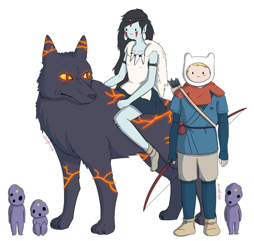 Tremendous Miyazaki film-Adventure Time Mashups! Really brilliantly done. arachnidzgrip:  via Super Punch |by Deighvid