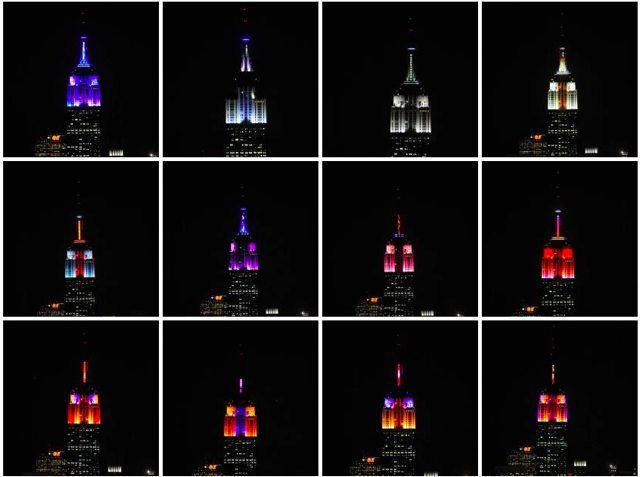 laughingsquid:  Empire State Building Light Show Set to Music by Alicia Keys