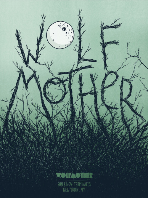 Wolfmother Gig Poster by Brosmind