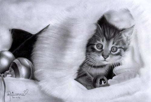 Christmas by ~Rajacenna ~ This is a pencil drawing, not a photo. :)